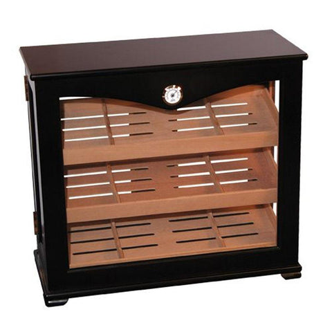 Corova Commercial Display Humidor Cabinet 150 Cigar Count - Shades of Havana
