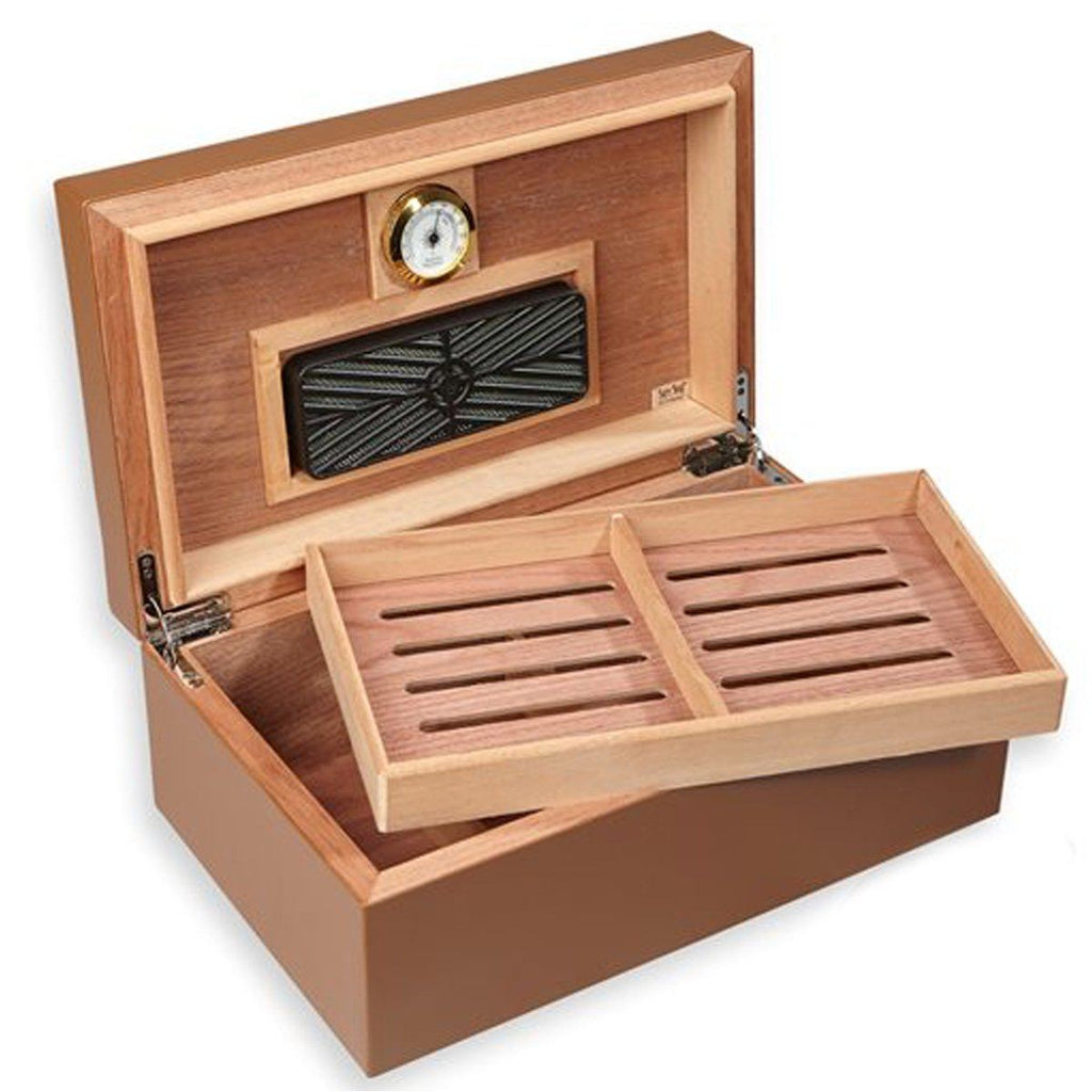 Diesel 75 Cigar Count Leather Humidor | Limited Edition - Shades of Havana