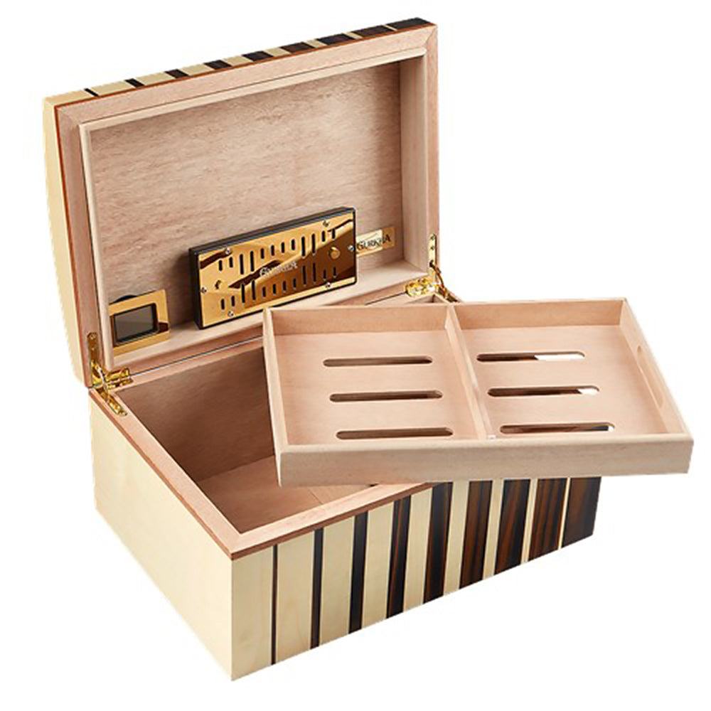 Gurkha Art Deco Humidor - Dome 75 Cigar Capacity - Shades of Havana