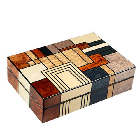 Gurkha Art Deco Humidor - Patches 40 Cigar Capacity - Shades of Havana