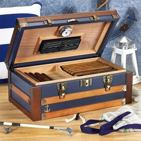 Image of Admiral Medium Humidor Supreme 120 Cigar Count - Shades of Havana