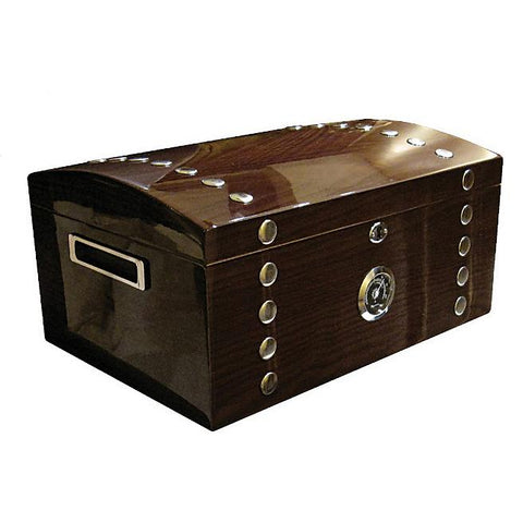 Montgomery 150 Cigar Count Humidor Chest | Lacquer Studded - Shades of Havana