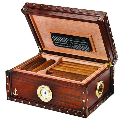 Image of Maiden Voyage Antique Humidor Supreme 100 Cigar Count - Shades of Havana