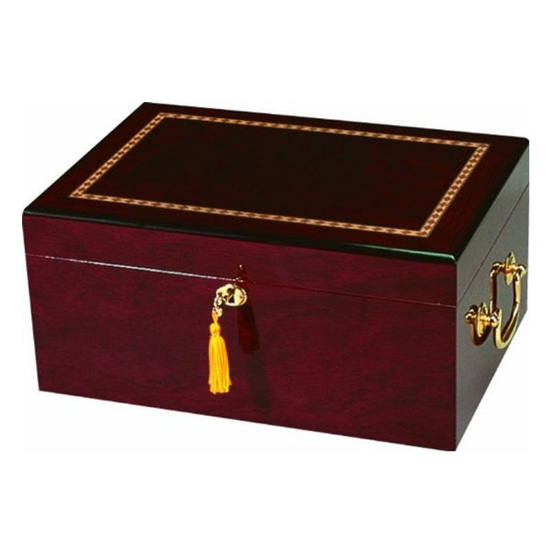 Alhambra High Gloss Maple Humidor - 100 Cigar Capacity - Shades of Havana