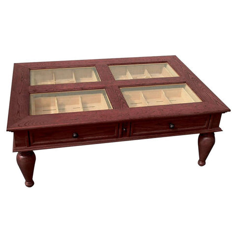 Galicia Coffee Table Humidor Cabinet 400 Cigar Count - Shades of Havana