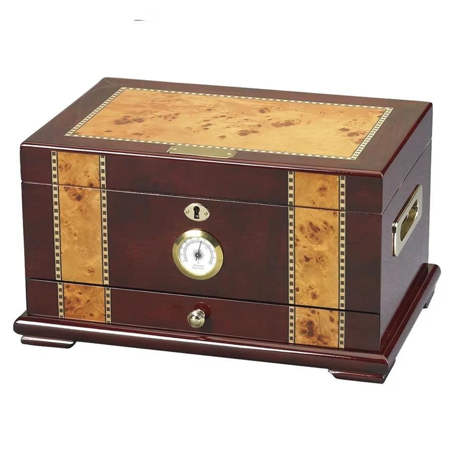 Solana Rosewood Desktop Humidor | 100 Cigar Count - Shades of Havana