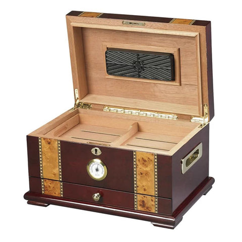 Image of Solana Rosewood Desktop Humidor | 100 Cigar Count - Shades of Havana