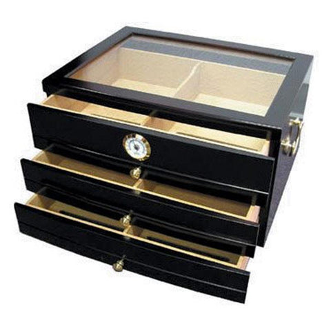 Palermo Desktop Humidor 150 Cigar Count | Mahogany - Shades of Havana
