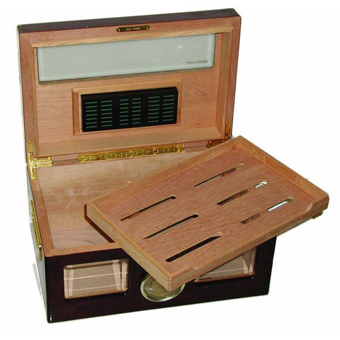 Image of Versailles Glass Top Humidor 100 Cigar Count - Shades of Havana
