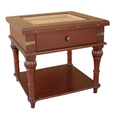 Scottsdale Glass Top End Table Humidor | 300 Cigar Count - Shades of Havana