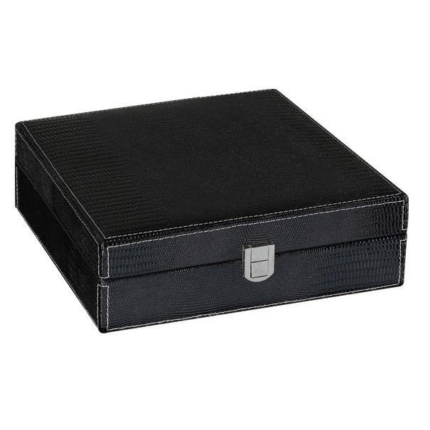 The Alligator Black Leather Humidor 25 Cigar Count | Gift Set - Shades of Havana