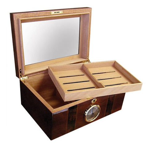 Ambassador Glass Top Humidor 100 Cigar Count