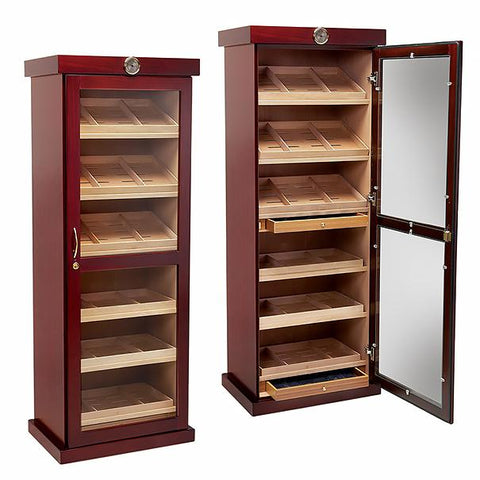 Image of Barbatus Humidor Cabinet 2000 Cigar Count | 12 Humidifiers - Shades of Havana