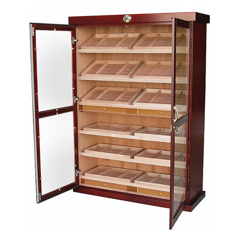 Image of Bermuda 4000 Cigar Count Humidor Cabinet | 24 Humidifiers - Shades of Havana