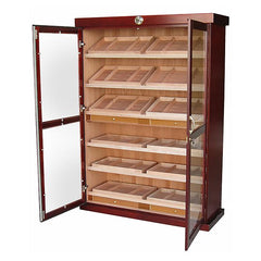 Bermuda Humidor Cabinet - Holds 4000 Cigars - 24 Humidifiers