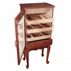 Belmont - Cabinet Humidor With Mahogany Finish - 600 Cigars - Glass Door - Prestige Imports
