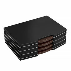 CARLTON - Polished Steel Accented - Black Humidor- Holds 100 Cigars - With Silver Hardware - Shades of Havana