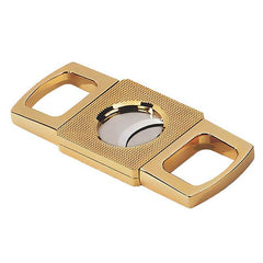 Image of Gold Cigar Cutter - Etched Guillotine Cutter - Precision Made - Etched Body in Gift Box (Gold)