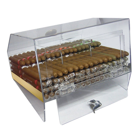 Laurence Acrylic Humidor Cabinet Commercial Display | 75 Cigar Count