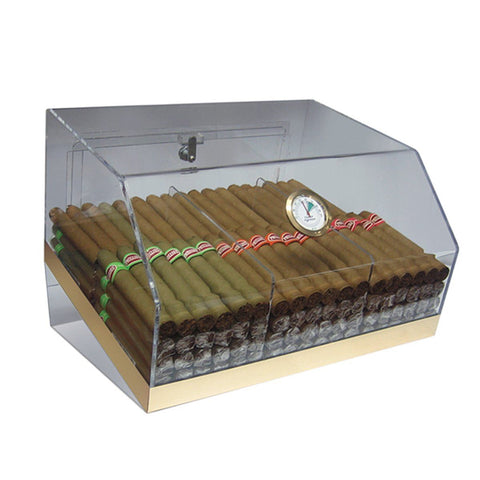 Image of Laurence Acrylic Humidor Cabinet Commercial Display | 75 Cigar Count - Shades of Havana