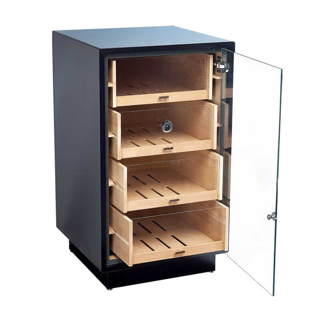 wine cigar preparing enthusiast glass eurocave asp cabinet door humidor zoom black