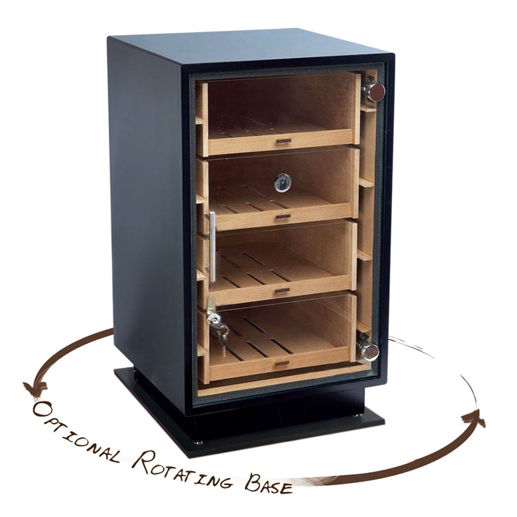 Manchester Humidor Cabinet 250 Cigar Count | Optional Rotating Base - Shades of Havana