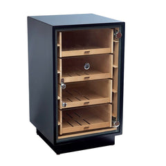 MANCHESTER - Cigar Humidor Cabinet - Holds 250 Cigars - Black Counter Display - Optional Rotating Base - Shades of Havana