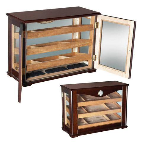 Image of Marciano Humidor Cabinet 250 Cigar Count | Commercial Glass Display - Shades of Havana