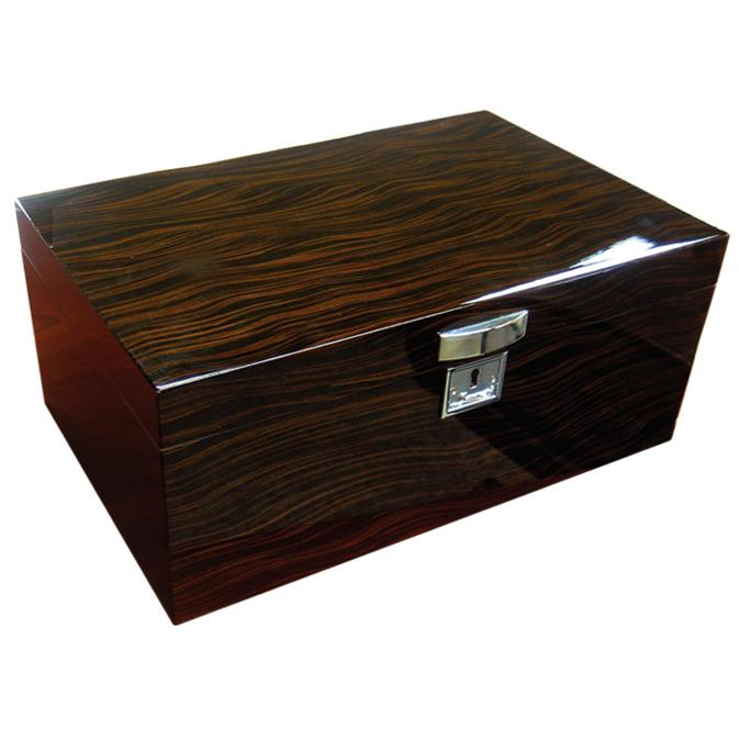 Princeton Ebony 130 Cigar Humidor | Polished Hardware - Shades of Havana