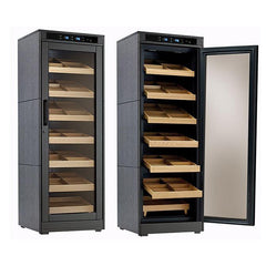 Remington Lite - Cigar Humidor Cabinet - 2000 Cigars - Black Oak - Prestige Import Group