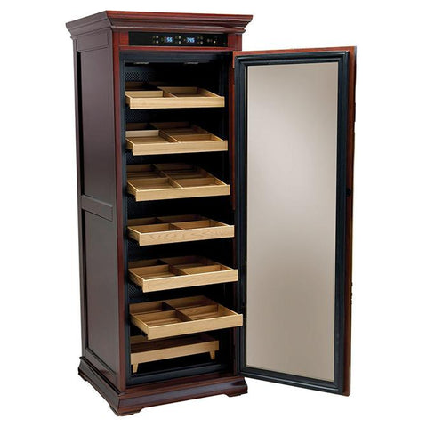 Image of Remington 2000 Cigar Count Electronic Humidor Cabinet | Electric Humidifier - Shades of Havana