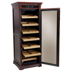 Remington - Cigar Humidor Cabinet - 2000 Cigars - Cherry Finish - Prestige Import Group