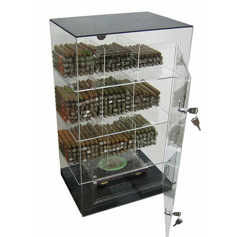 Roosevelt Acrylic Humidor Cabinet | 250 Cigar Commercial Display