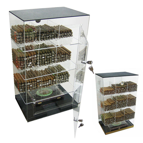 Image of Roosevelt Acrylic Humidor Cabinet | 250 Cigar Commercial Display - Shades of Havana
