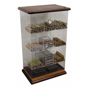 Roosevelt Wood Acrylic Humidor Cabinet | 250 Cigar Commercial Display - Shades of Havana