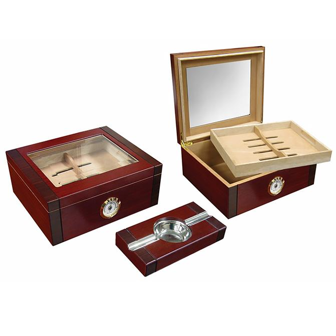 Sovereign 50 Cigar Glass Top Humidor | Rosewood - Shades of Havana