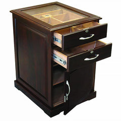 Santiago - Walnut End Table Humidor - 700 Cigars - Prestige Imports