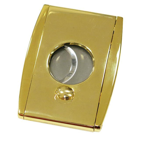 TITAN Gold - High End Box Wing Cigar Cutter - Dual Blade Cutter - With Spring Loaded Action