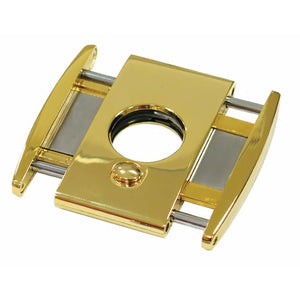TITAN Gold - High End Box Wing Cigar Cutter - Dual Blade Cutter - With Spring Loaded Action - Shades of Havana