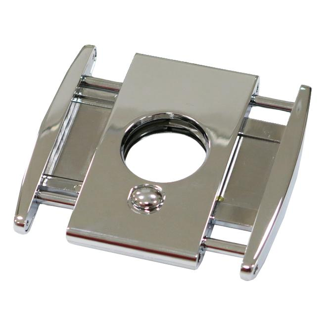TITAN Silver - High End Box Wing Cigar Cutter - Dual Blade Cutter - With Spring Loaded Action - Shades of Havana