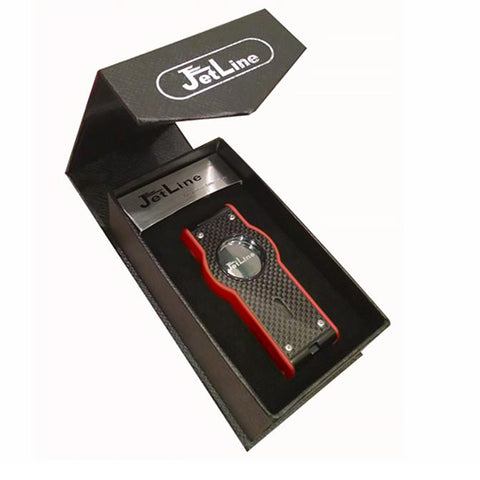 TOUCH - Cigar Torch Lighter - LED Accented Mirror Ignition Quad Torch - With Red Flame & Punch Cutter - Shades of Havana