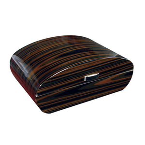 Waldorf 150 Cigar Count Dome Humidor | Ebony Lacquer Finish - Shades of Havana