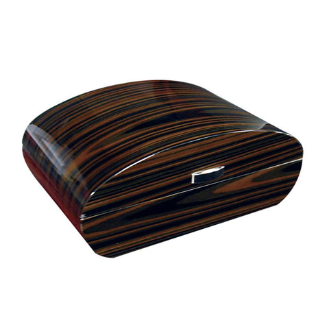 Image of Waldorf - 150 Cigars - Ebony Lacquer Finish w/ Polished Hardware - Shades of Havana