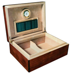 Napoli - Cigar Humidor - Walnut Burl Finish - 75 Cigars - Prestige Import