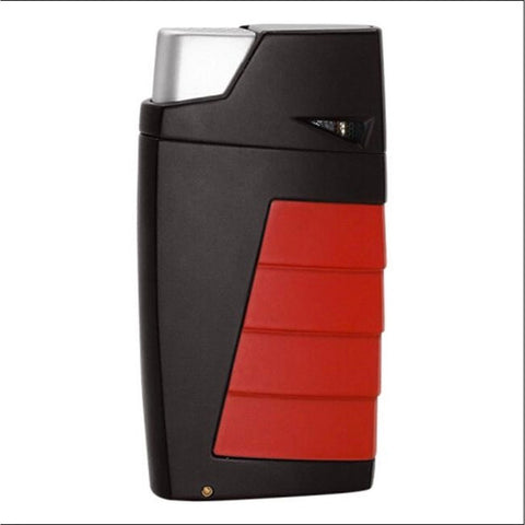 Tonino Lamborghini Dual Jet Torch Flame Lighter | Red & Black