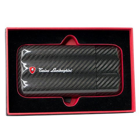 Image of Matrix - 3 Finger Carbon Fiber Cigar Case - Tonino Lamborghini - Shades of Havana