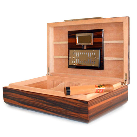 Vanderbilt Electronic Humidor - Ebony Wood Finish 120 Cigar Capacity
