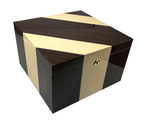 Image of Viceroy 110 Cigar Humidor | Maple & Iron Wood - Shades of Havana