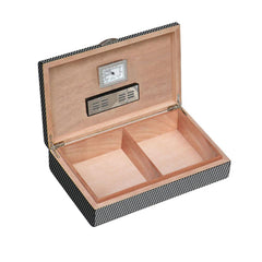 Ajax Carbon Fiber Pattern Humidor 50 Cigar Count