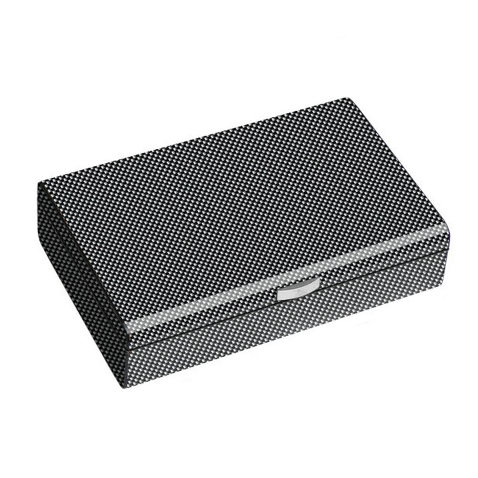Ajax Carbon Fiber Pattern Humidor 50 Cigar Count - Shades of Havana